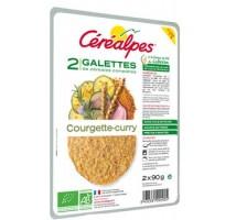 Galette végétale courgette curry Cerealpes