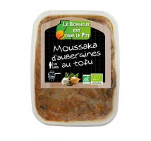 Moussaka d'aubergines au tofu